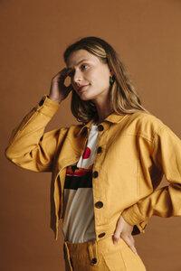 Jeansjacke Damen - Mustard Hemp Rufiji - thinking mu