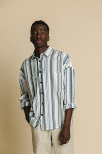 Hemd Herren - Blue Stripes Gambia - thinking mu