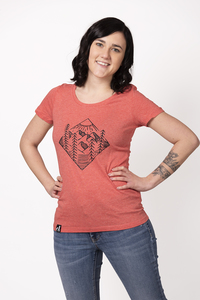 """Damen T-Shirt """"ELWald"""" in mid heather red - ecolodge fashion"""