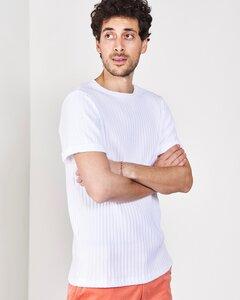 T-Shirt BOY FOR MEN weiß gerippt - JAN N JUNE