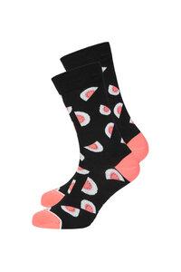 Basic Socks #MELON schwarz / coral - recolution