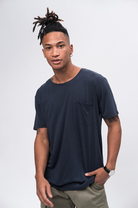 Tencel T-Shirt #POCKET navy - recolution