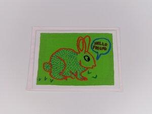 Hand-bestickte Klappkarte mit Umschlag - Green Size