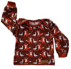 Babyshirt aus Biojersey Fuchs und Gans - Omilich