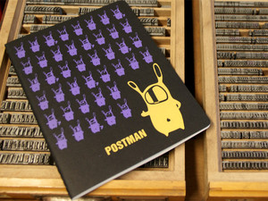 'Postman' NOTIZHEFT DIN A4  - shop handgedruckt