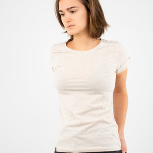"T-Shirt Damen - upc. Baumwolle + rec. Polyester ""Terra Natural"" beige - Vresh"
