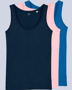 3er Pack Damen Top aus Bio Baumwolle, viele Farbkombinationen - YTWOO