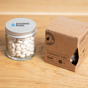 Zahnputz Tabs Salbei – 130 Stück – mit Fluorid – Naturkosmetik - HYDROPHIL