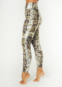 Yoga Leggings Ganga 7/8 Animal Gold Brown  - Kismet Yogastyle