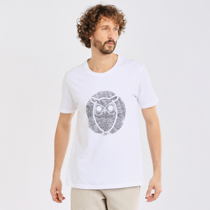 T-shirt - ALDER wave owl tee  - KnowledgeCotton Apparel