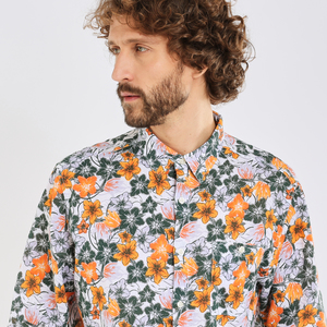 Hemd-Freizeit - Shirt - LARCH LS flower shirt - OCS/Vegan - KnowledgeCotton Apparel