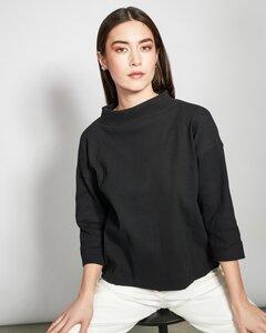 Pullover KALLISTO gerippt in schwarz - JAN N JUNE