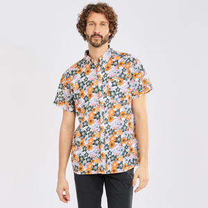 Hemd-Freizeit - Shirt - ELDER SS flower shirt - OCS/Vegan - KnowledgeCotton Apparel