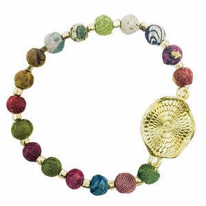 Kantha Armband Medallion - Worldfinds