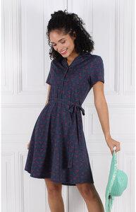 Kleid aus Bambus-Faser und Bio-Baumwolle 'LA-018 Clara cherry' - Lykka du Nord