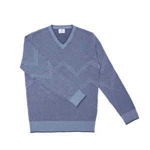 Recycelter Pullover aus Denim-Baumwolle Gio  - Rifò - Circular Fashion