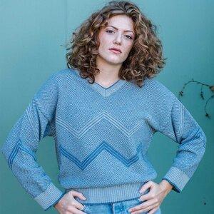 Upgecycelter Pullover aus Denim-Baumwolle Gae - Rifò - Circular Fashion