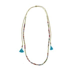 Kantha Tassel Wrap Necklace - Worldfinds
