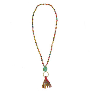 Kantha Tassel Necklace - Worldfinds