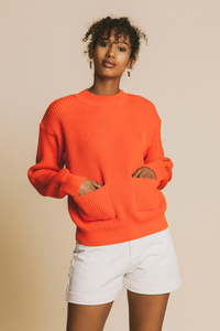 Scarlet Faleme Knitted Sweater - thinking mu
