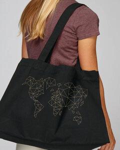 SHOPPING BAG Bio Baumwolle & Upcycling / Worldmap - Kultgut