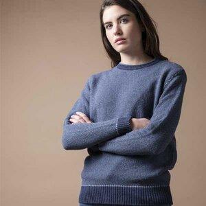 Upgecycelter Pullover aus Denim-Baumwolle  Lina - Rifò - Circular Fashion