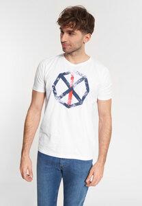"""Herren T-shirt mit Print aus Bio-Baumwolle """"Franky"""" weiß - SHIRTS FOR LIFE"""