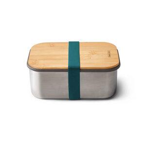 """Lunchbox """"Sandwich Box Large"""" 1.250ml aus Edelstahl mit Bambusdeckel - Black + Blum"""