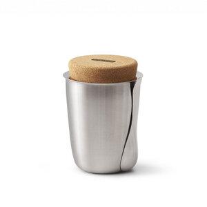 Thermo Becher 550 ml aus Edelstahl mit Kork-Deckel und Löffel - Black + Blum