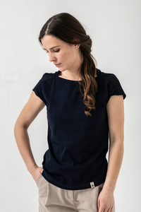 "Bio-Baumwoll-T-Shirt ""Ophelia 2.0"" - Grenz/gang"