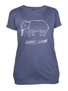 """Kipepeo Frauen Shirt """"Elephant"""". Handmade in Kenya. - Kipepeo-Clothing"""