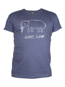 "Kipepeo Männer Shirt ""Elephant"". Handmade in Kenya. - Kipepeo-Clothing"
