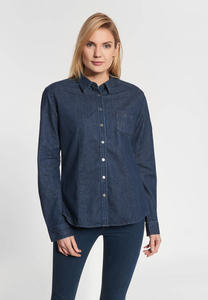 "Damen Denim Blouse aus Bio-Baumwolle ""Jane"" - SHIRTS FOR LIFE"