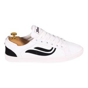 Sneaker Damen vegan - G-Helá R-Pet Canvas -  White/Black - Genesis Footwear