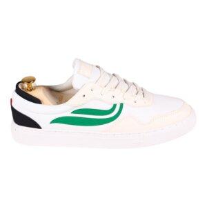 Sneaker Damen- G-Soley Mesh - White/Green/Black   - Genesis Footwear