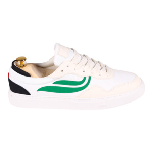 Sneaker Herren - G-Soley Mesh -  White/Green/Black - Genesis Footwear