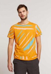 Herren T-Shirt Strokes Sunset Bio Fair - ThokkThokk