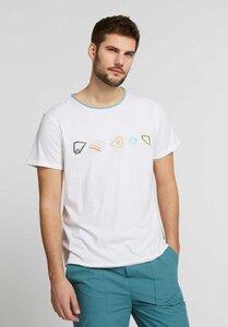 Herren T-Shirt Elements Embroidery Bio Fair - ThokkThokk