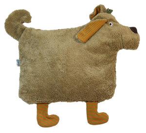 """Kuschelkissen """"Hund""""/hellbraun (HD-107) aus 100 % Baumwolle kbA - Pat und Patty"""