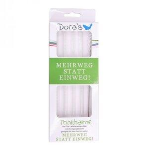 Borosilikatglas Trinkhalme mit Reinigungsbürste - Dora
