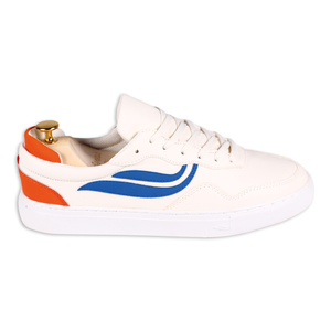 Sneaker - G-Soley - White/Royal/Orange  - Genesis Footwear