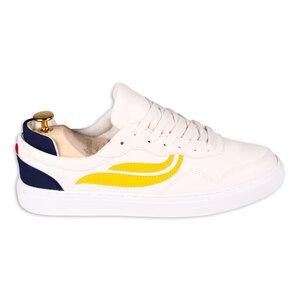 Sneaker - G-Soley - White/Yellow/Navy - Genesis Footwear