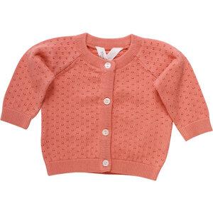 Baby Strick Cardigan * Dot peach * | GOTS zertifiziert | Müsli - Müsli by Green Cotton