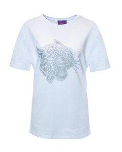 MYINTOX Crazy Leopard T-Shirt aus Bio-Baumwolle mit silber Leopard - MYINTOX