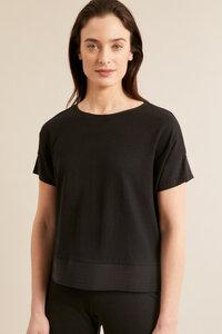 Shirt mit Seideneinsatz aus Hanf mit Bio-Baumwolle - LANIUS