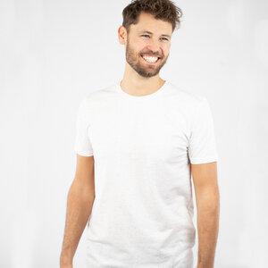 """T-Shirt Herren - upc. Baumwolle + rec. Polyester """"Neps"""" weiß/schwarz - Vresh"""
