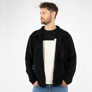 "Sweatjacket Herren - Biobaumwolle + rec. Polyester ""Botao"" schwarz/grau - Vresh Clothing"