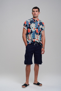 Canvas Cargo Shorts  - recolution