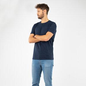 """T-Shirt Herren - Bio-Baumwolle extra weich """"Suave"""" navy/graugrün - Vresh"""