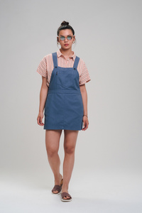 Canvas Strappy Dress - recolution